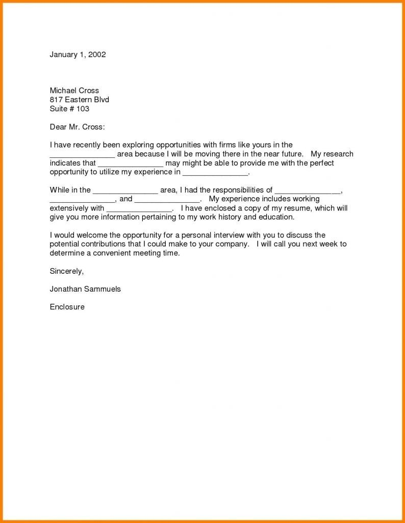 Relocation Cover Letter Examples Simple Cover Letter Example