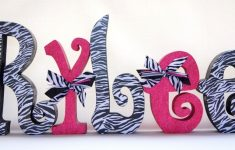 Wooden Letters For Nursery Zebra Print Decor Wall Hanging Or Free