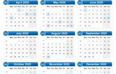Easter 2020 Calendar Uk – Printable Year Calendar