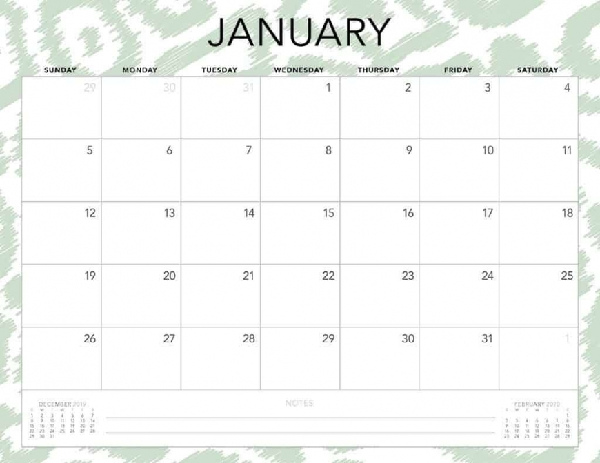 Printable Monthly Calendars 2020