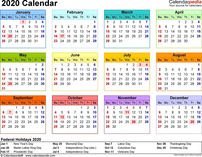 2020 Calendar Uk Printable Pdf
