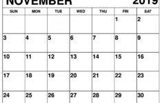 November 2019 Calendar Printable For Business Use | Free