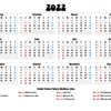 2022 Yearly Free Printable Calendar 2022 With Holidays