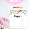 Pretty Printable 2021 Calendar By Month