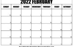 Daily Calendar 2022 Printable