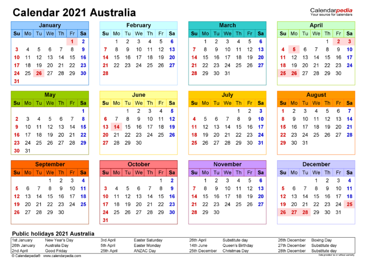 Free Printable Calendar 2021 Yearly