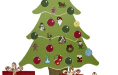 printable christmas tree advent calendar pattern